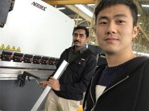 Algeria Client Testing Press Brake Machine in Our Factory