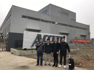 Russia Customers Visit Double Linkage Bending Machine in Our Factory