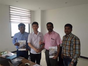 Sri Lanka Customers Discuss Technology with Mr.Tai in Our Office