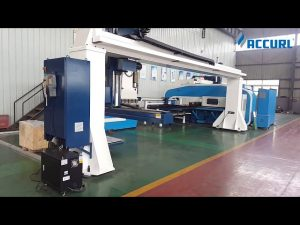 Gantry style 5-axis cnc press brake robot bending/turret punch press