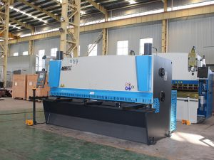 cnc hydraulic metal sheet shearing machine, hydraulic sheet cutting machine, QC12y-4X2500 E21s