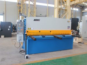 hydraulic shearing machine with swing beam