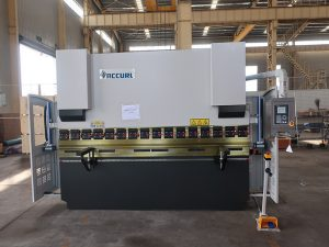 hydraulic heavy duty delem(2+1 axis) press brake with cnc control system